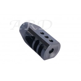 AR15 ARD STAINLESS IN BLACK  BIG MOUTH JR. MUZZLE BRAKE 5.56/223  #VM16