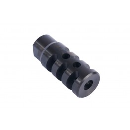 AR15  STAINLESS IN BLACK TAC MUZZLE BRAKE 5.56/223  #X15