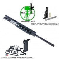 BIG SALE ARD AR15 CARBINE 1-9 TWIST UPPER COMPLETE 16 INCH W/ LOWER PARTS KIT AND STOCK ASSEMBLY #TM993KIT