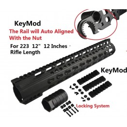 ARD AR15 RIFLE LENGTH FREEFLOAT KEY MOD HANDGUARD #CK12