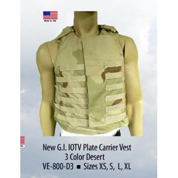G.I. IOTV PLATE CARRIER VEST 3 COLOR DESERT SIZE LARGE  #VED3-L