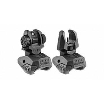 Mako Group  Front and Rear Flip-Up Sight Set #FRBSB