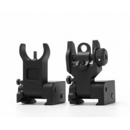 Low Profile Flip Up Front and Rear  Sight Set  #JC20