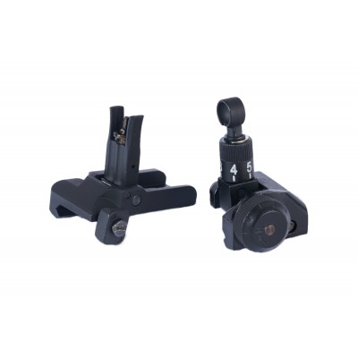Low Profile Flip Up Front and Rear  Sight Set  #JC40